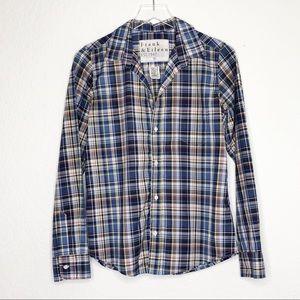 Frank & Eileen | Blue Plaid Button Down Shirt Sz M